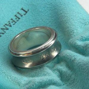 4b83a8646 1. 3. Tiffany & Co. 1837 Concave Titanium Band Ring 925 Ti Size 5.75